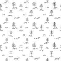 jul minimalistisk monoline skandinaviskt sömlöst mönster