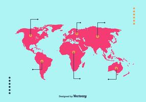 Mapa mundi vektor