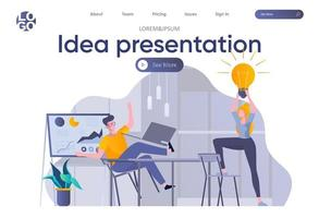 Ideenpräsentations-Landingpage mit Header