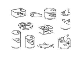 Freie Sardine Linie Illustration Vektor