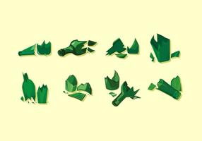 Grüne zerbrochene Flasche Free Vector