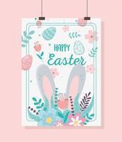 påskdag firande hängande kort