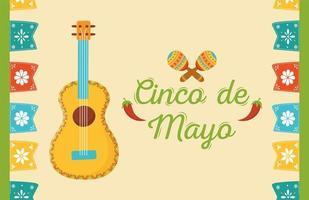 mexikanska element för cinco de mayo firande banner
