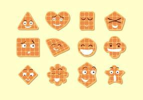 Söt Waffle Gratis Vector