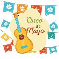 mexikanska element för cinco de mayo firande