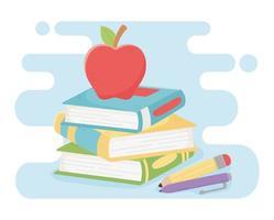 Schulmaterial Banner für Lehrertag vektor