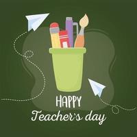 Schulmaterial für den Lehrertag vektor