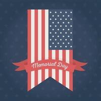 minnesdag firande flagga etikett eller märke vektor
