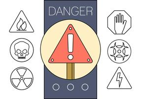 Freie Linear Anzeichen von Gefahr vektor