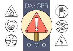 Fria linjära Tecken på fara