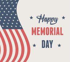 amerikanska flaggan för minnesdag firande