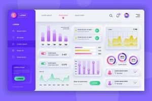 neumorphic Dashboard UI Kit Admin Panel