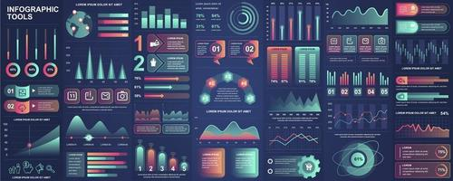 infographic, ui, ux, kit element bunt vektor