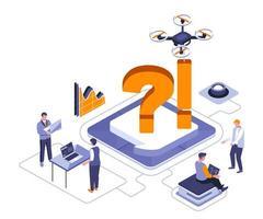 Unternehmen diskutieren isometrisches Design vektor