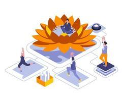 Yoga-Vorteile für das isometrische Design des Körpers vektor