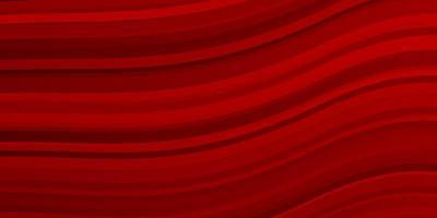 mörk röd bakgrund med böjda linjer.