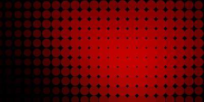 mörk röd bakgrund med cirklar.