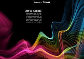Vector färgrik abstrakt vågor