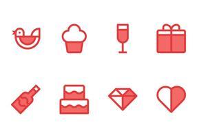 Hochzeits-Linie Icon vektor