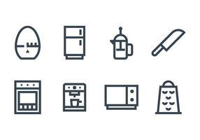 Küchenzubehör Icon vektor