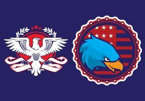 Eagle-Propaganda-Abzeichen vektor