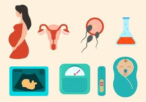 Kostenlose Schwangerschafts-Vektoren vektor