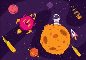 Starship Planet Gratis Vector