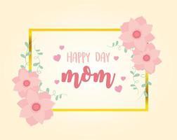 Muttertagsbeschriftung und Blumengrußkarte