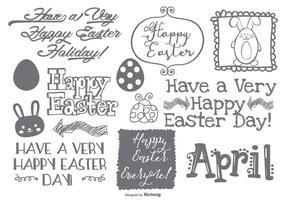 Nettes Ostern Doodle Sammlung