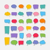 färgglada pratbubbla former set vektor