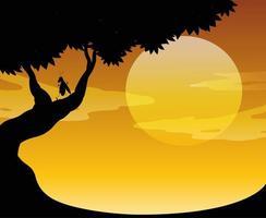 Outdoor-Sonnenuntergangsszene im Freien
