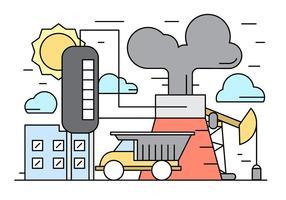 Gratis Linear Industry Vector Illustration