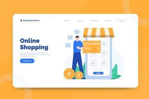online shopping målsida