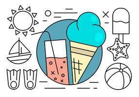 Freie Linear Sommer Icons
