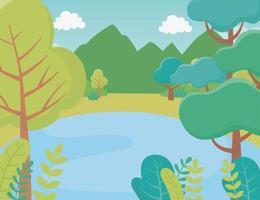 Cartoon Landschaft Hintergrund vektor