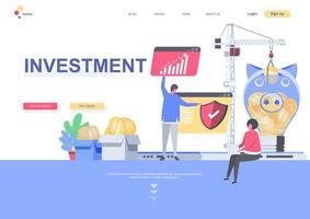 mall för investeringsmålsida