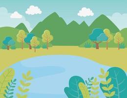 tecknad landskap bakgrund vektor