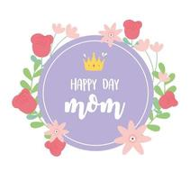 mors dag bokstäver och blommor gratulationskort