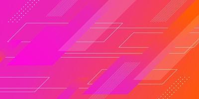 abstrakt rosa och orange gradient geometrisk form design vektor