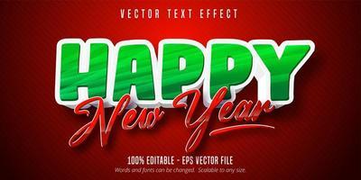 Frohes neues Jahr Texteffekt vektor