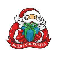 jultomten med lådagåva