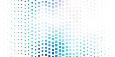 hellrosa und blauer Hintergrund mit Quadraten vektor
