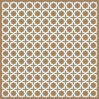 nahtlose islamische Muster in Beige vektor