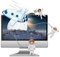 Galaxienhintergrund auf dem Computerbildschirm