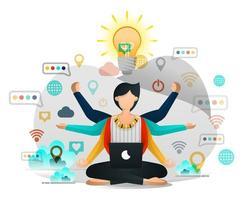 Yoga und Meditation, um Inspiration in der Arbeit zu finden