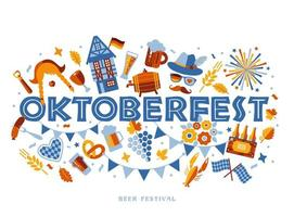 oktoberfest typografi banner vektor