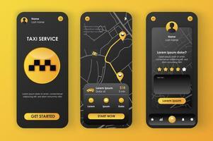 Taxiservice, einzigartiges neomorphes Design vektor