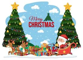 isolierte frohe Weihnachten Banner vektor