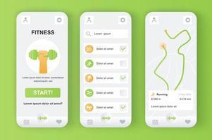 Fitness-Monitor, einzigartiges neomorphes Design-Kit
