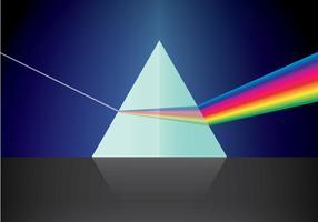 Triangulärt prisma och ljus vektor